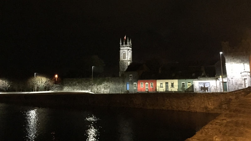 St Muchin's Church, Limerick City as seen from across the Shannon