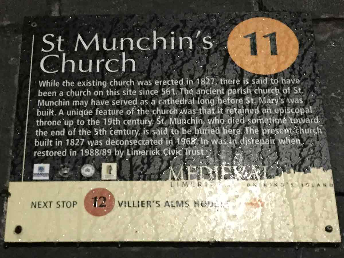 The history of St Muchin's Church, Limerick City